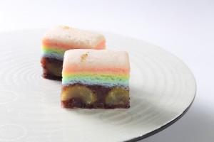 虹のお菓子栗