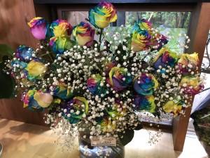 今年も多くの人々から大好きな花を贈っていただきました