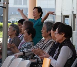 南三陸志津川東地区西復興住宅でのコンサート